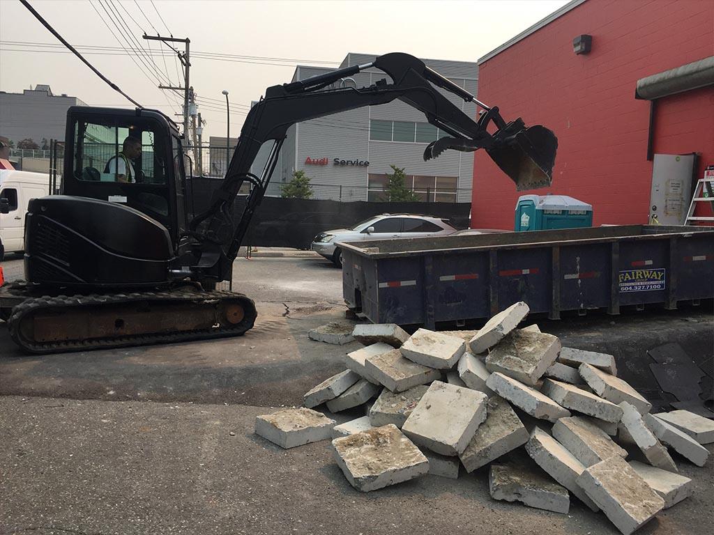 concrete demolition contractors